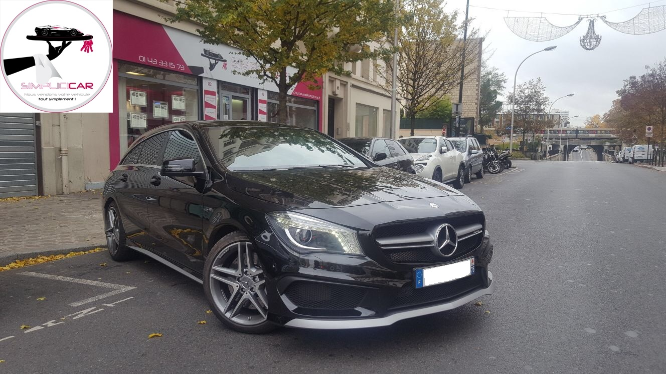 voiture mercedes classe cla shooting brake 45 amg 4matic speedshift dct a occasion essence. Black Bedroom Furniture Sets. Home Design Ideas