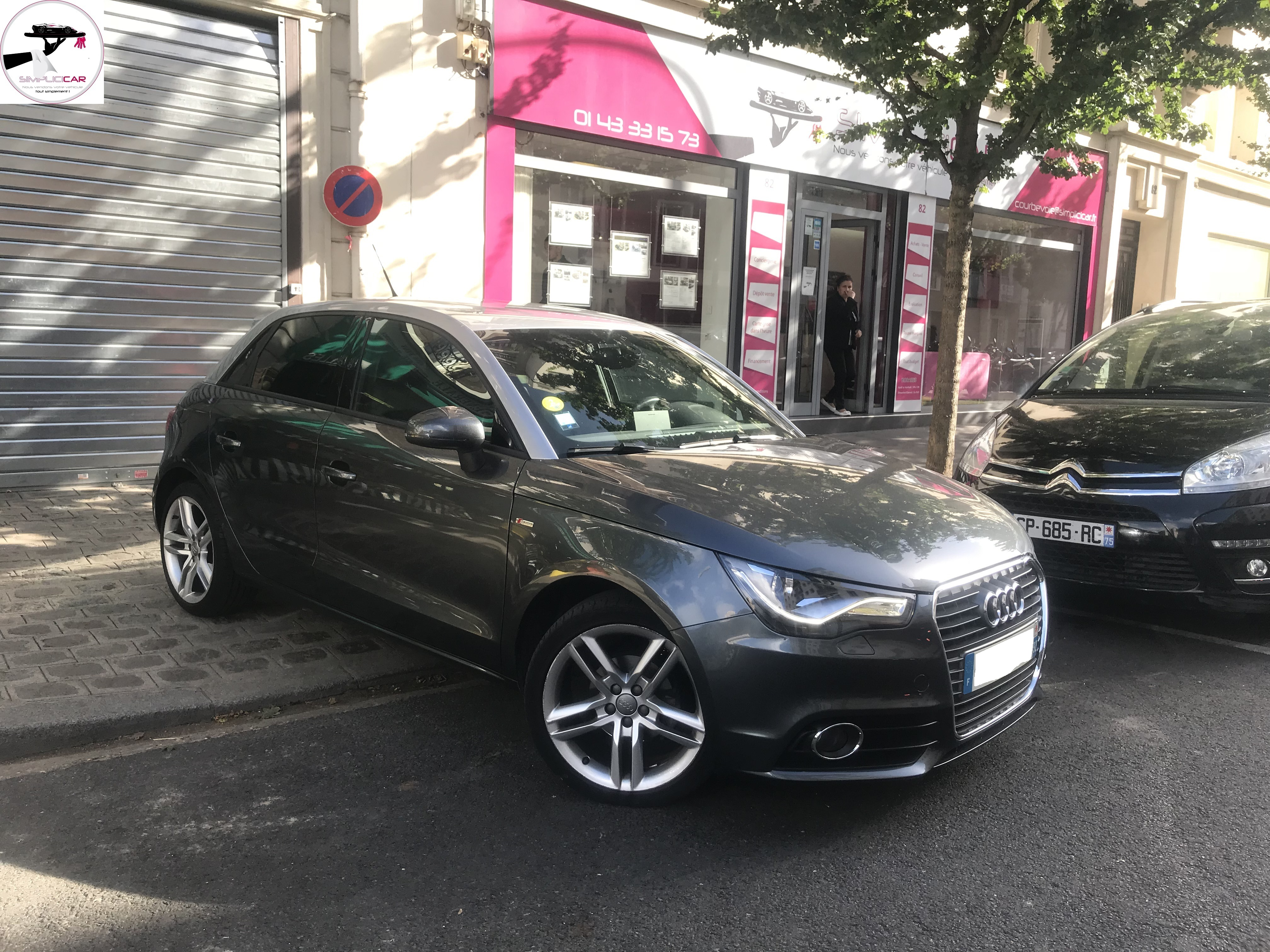 voiture audi a1 sportback 1 6 tdi 90 s line s tronic occasion diesel 2014 33900 km 18490. Black Bedroom Furniture Sets. Home Design Ideas
